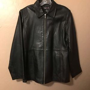 Style & Co. Ladies Leather Jacket